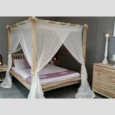 Balinese Rumple Four Poster Bed Canopy Muslin Mosquito Net