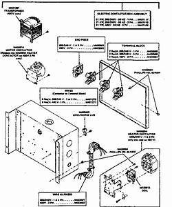 Electrical Contactor Box Assembly Diagram  U0026 Parts List For