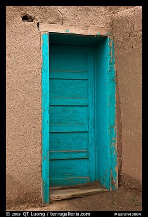 picturephoto blue door taos  mexico usa