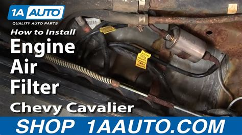 96 Cavalier Fuel Filter by How To Install Replace Service Engine Air Filter Chevy