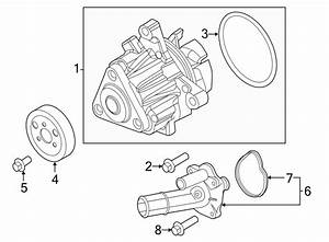 Lincoln Mkc Thermostat  Housing  Coolant  Engine