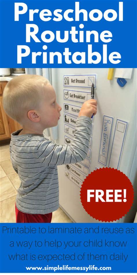 preschooler daily routine printable free steadfast family 177 | FREE Preschool Routine Printable