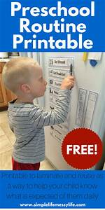 Printable Family Routine Chart Preschooler Daily Routine Printable Free Steadfast Family