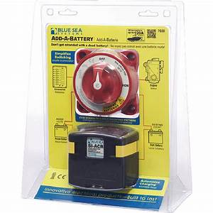 Blue Sea Systems Boat  Rv 7650 Dual Circuit System Add A Battery Switch