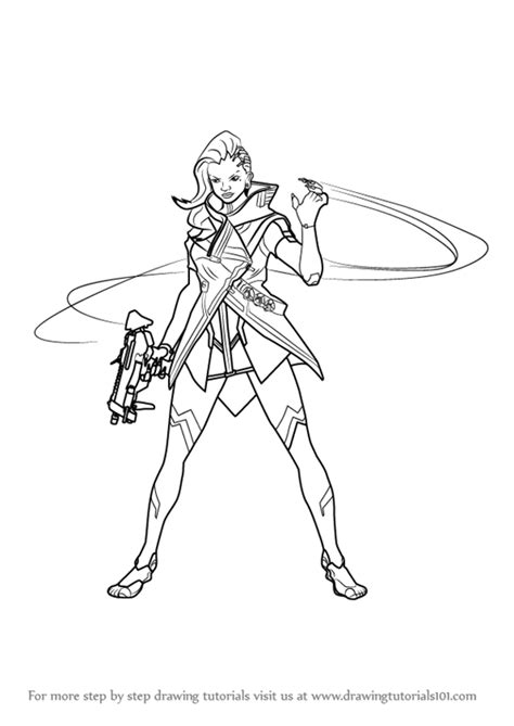 Kleurplaat Overwatch Doomfist by Learn How To Draw Sombra From Overwatch Overwatch Step