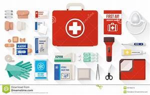 First Aid Kit Stock Vector  Illustration Of Blanket