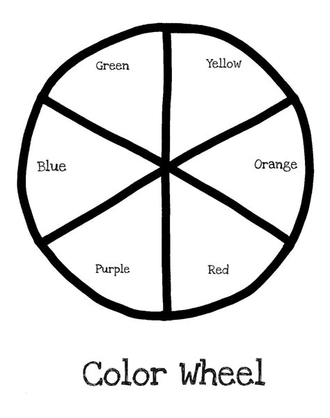color wheel coloring pages  gianfredanet