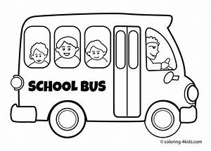 School bus Transportation coloring pages for kids ...