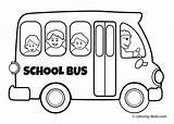 Bus Coloring Cartoon Animated sketch template