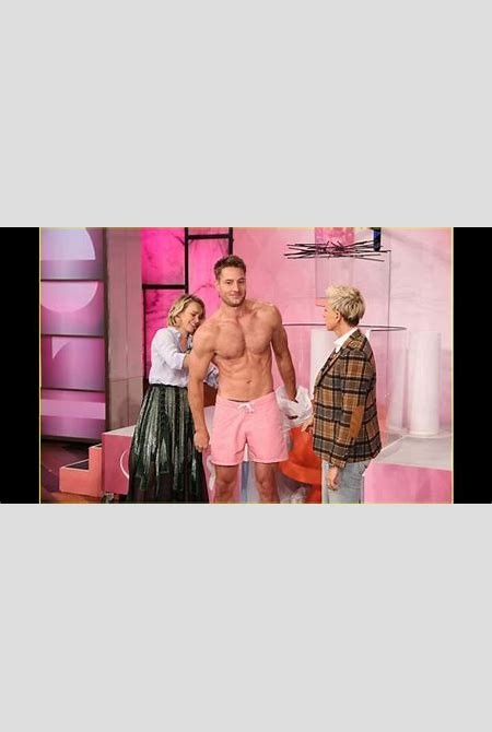 This is Us' Justin Hartley Strips Shirtless on 'Ellen ...