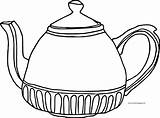 Teapot Coloring Fat Wecoloringpage sketch template