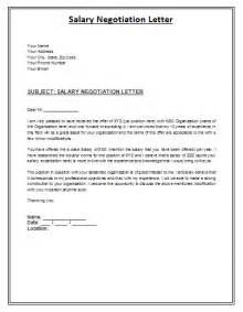 Job Offer Salary Negotiation Letter Sample