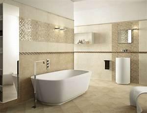 Moderne Wandgestaltung Bad : badezimmer in beige modern gestalten tipps und ideen ~ Sanjose-hotels-ca.com Haus und Dekorationen