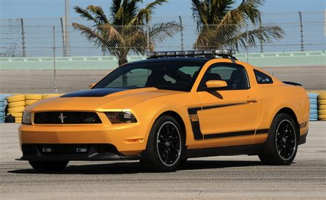 yellow blaze  boss  ford mustang coupe