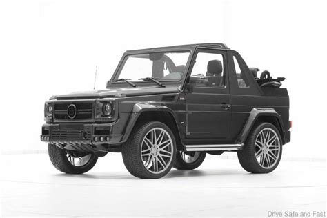 mercedes jeep convertible brabus drops the top on the g wagon drive safe and fast
