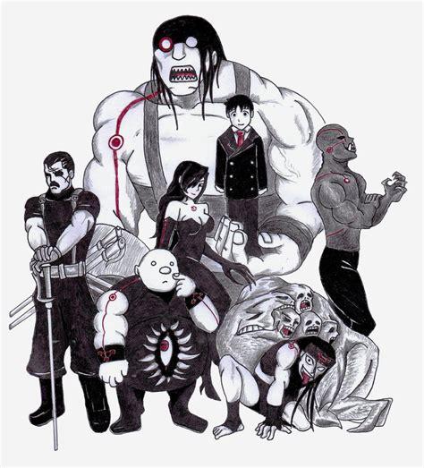 The 7 Homunculi (Fullmetal Alchemist Brotherhood) by ...