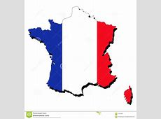 Map of France with flag stock vector Image of symbol