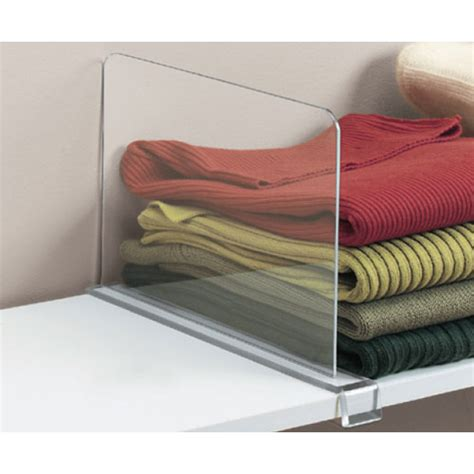 sweater storage acrylic shelf divider in shelf dividers