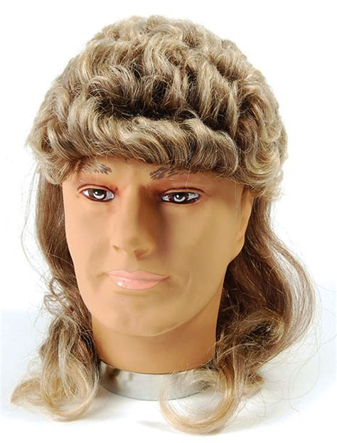 wham wig 2 tone blonde brown mullet wig george michael wham hill