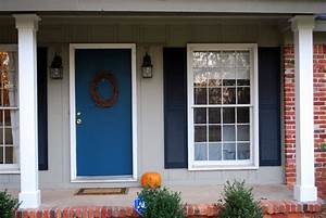 Blue Front Door for A Warm and Friendly House