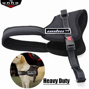 Outdoor Durable Safety Service Large Dog Harness Padded