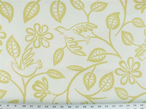 Bird Drapery Fabric - drapery upholstery fabric modern printed cotton floral