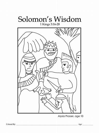 Wisdom Solomon Bible Coloring Table God Chapter