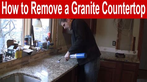 how to remove kitchen cabinets and countertops how to remove a granite countertop 9556