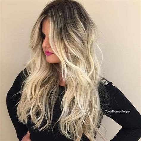 dark roots light ends technique 31 stunning blonde balayage looks page 2 of 3 stayglam