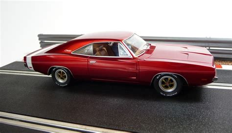 pioneer slotcars dodge charger rt  cherry red