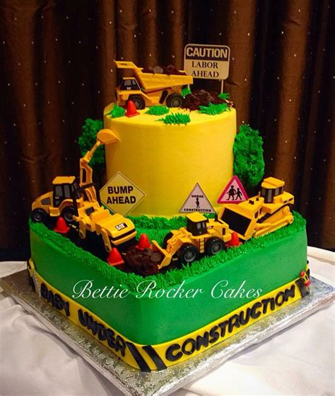 construction baby shower cake baby shower ideas