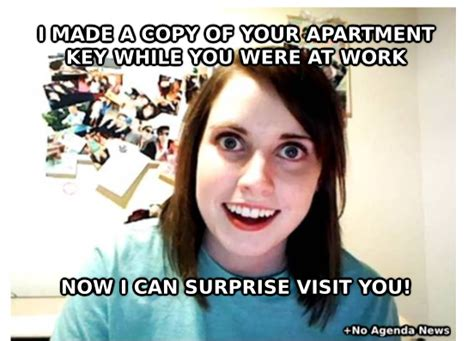 Overly Attached Girlfriend Meme - no agenda news surprise