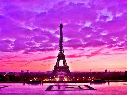 Paris Pink Desktop Eiffel France Wallpapers Tower