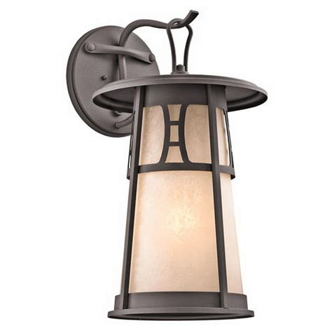 kichler architectural bronze exterior wall light fixture