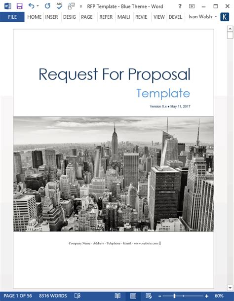 request  proposal rfp templates ms office  apple