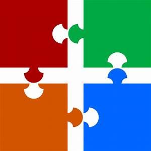 Puzzle Pieces Clip Art at Clker.com - vector clip art ...