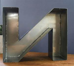 vintage metal letter n by bonnie and bell With metal letter n