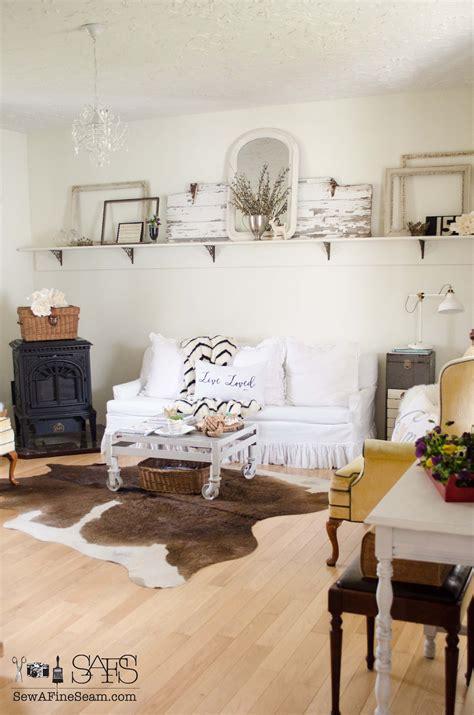 farmhouse living room   spring sew  fine seam