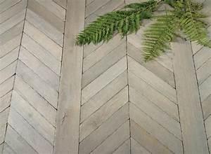 quotfougeresquot french oak chevron parquet wood floors With parquet fougère