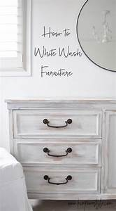 First project in the guest room makeover white washed for White washed furniture whitewash