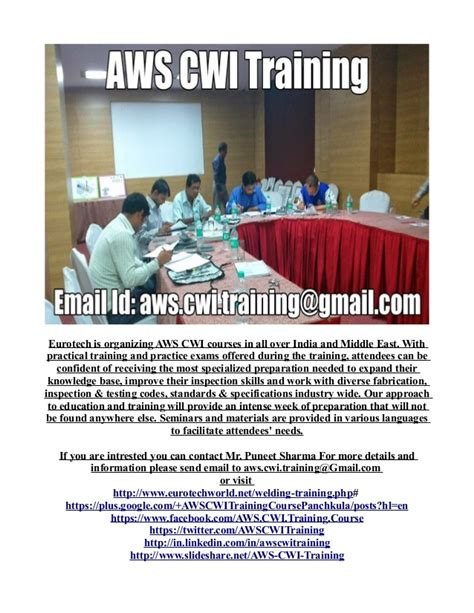 AWS CWI Training Schedule 2014 for INDIA and Middle East