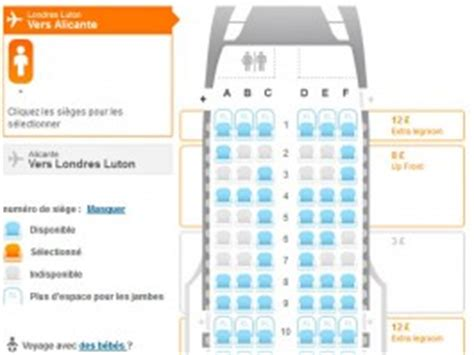 plan siege avion easyjet easyjet étend l allocation de siège à cdg air journal