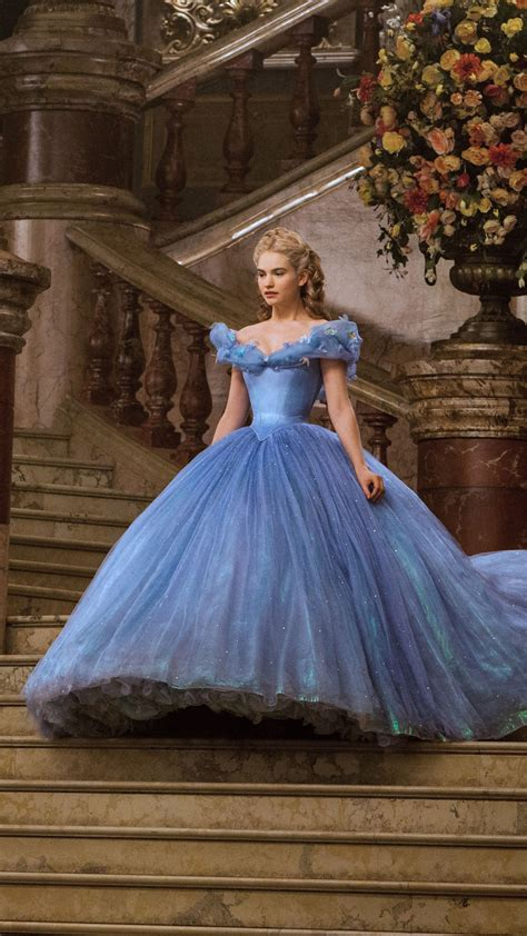 wallpaper cinderella lily james disney princess