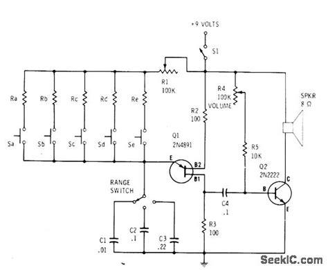 Wide Range Ujt Organ Basic Circuit Diagram