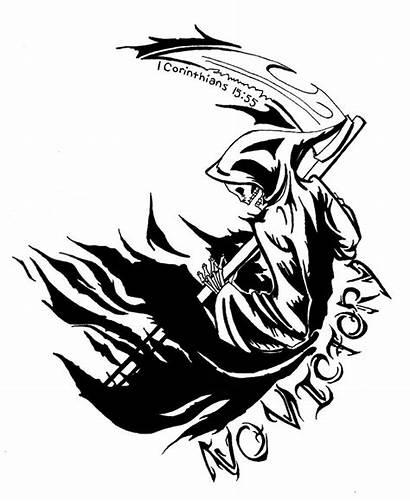 Reaper Grim Tattoo Tribal Designs Drawings Pencil