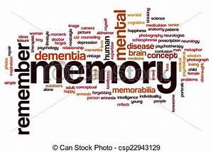 Clip Art von Wort, Wolke, Gedächtnis - Gedächtnis, Wort ...