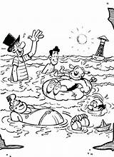 Coloring Swimming Pages Pool Beach Samson Party Gert Safety Getdrawings Getcolorings sketch template
