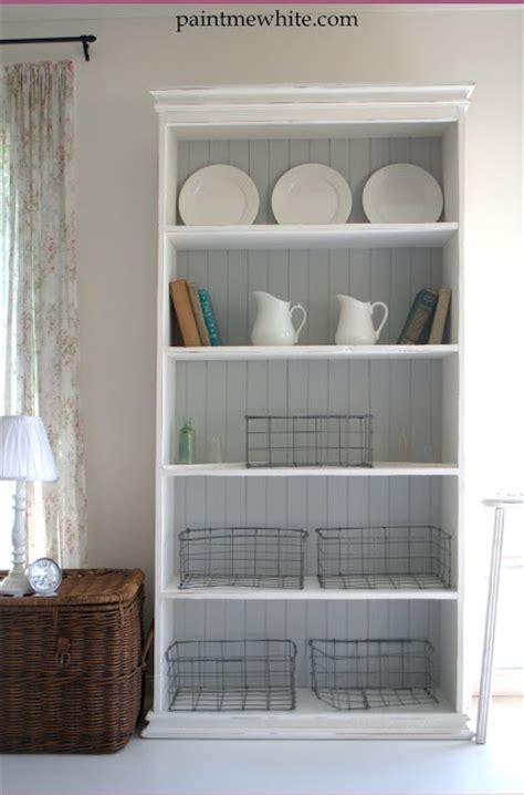 love  simple white bookshelf  beadboard shelf