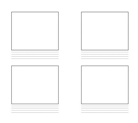 storyboard template  word  google docs