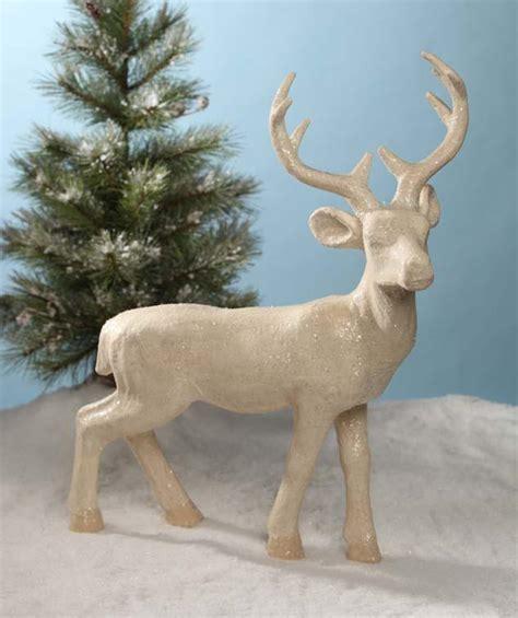 large paper mache reindeer theholidaybarn com